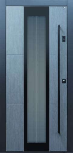 Haustür modern, anthrazit, grau, Keramik, Sicherheitstür, passivhaustauglich, besser als alu, Glas