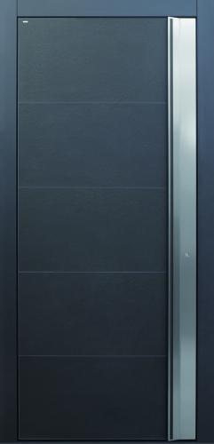 Haustür anthrazit Edelstahl Keramik Sicherheitstür passivhaustauglich TOPICcore besser als alu
