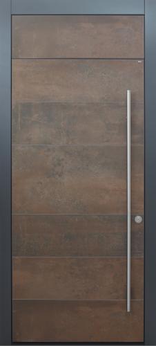 Haustür modern, Keramik Lamiera, anthrazit, TOPICcore, Sicherheitstür, passivhaustauglich, besser als alu, Glas