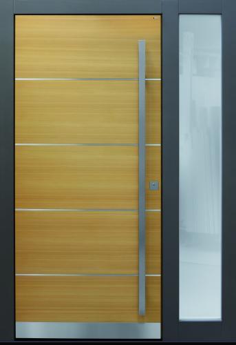 Haustür front door Current B9 T2 mit Seitenteil ST-B1 Lärche www.topic.at