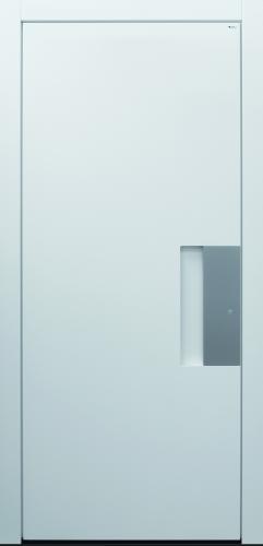 Haustür modern, weiß, TOPICcore, Edelstahl, Sicherheitstür, passivhaustauglich
