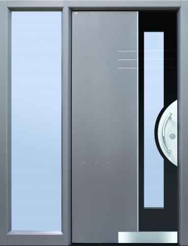 Haustür front door Shadow03 T3 mit Seitenteil ST-C101 und Rahmen C101 www.topic.at
