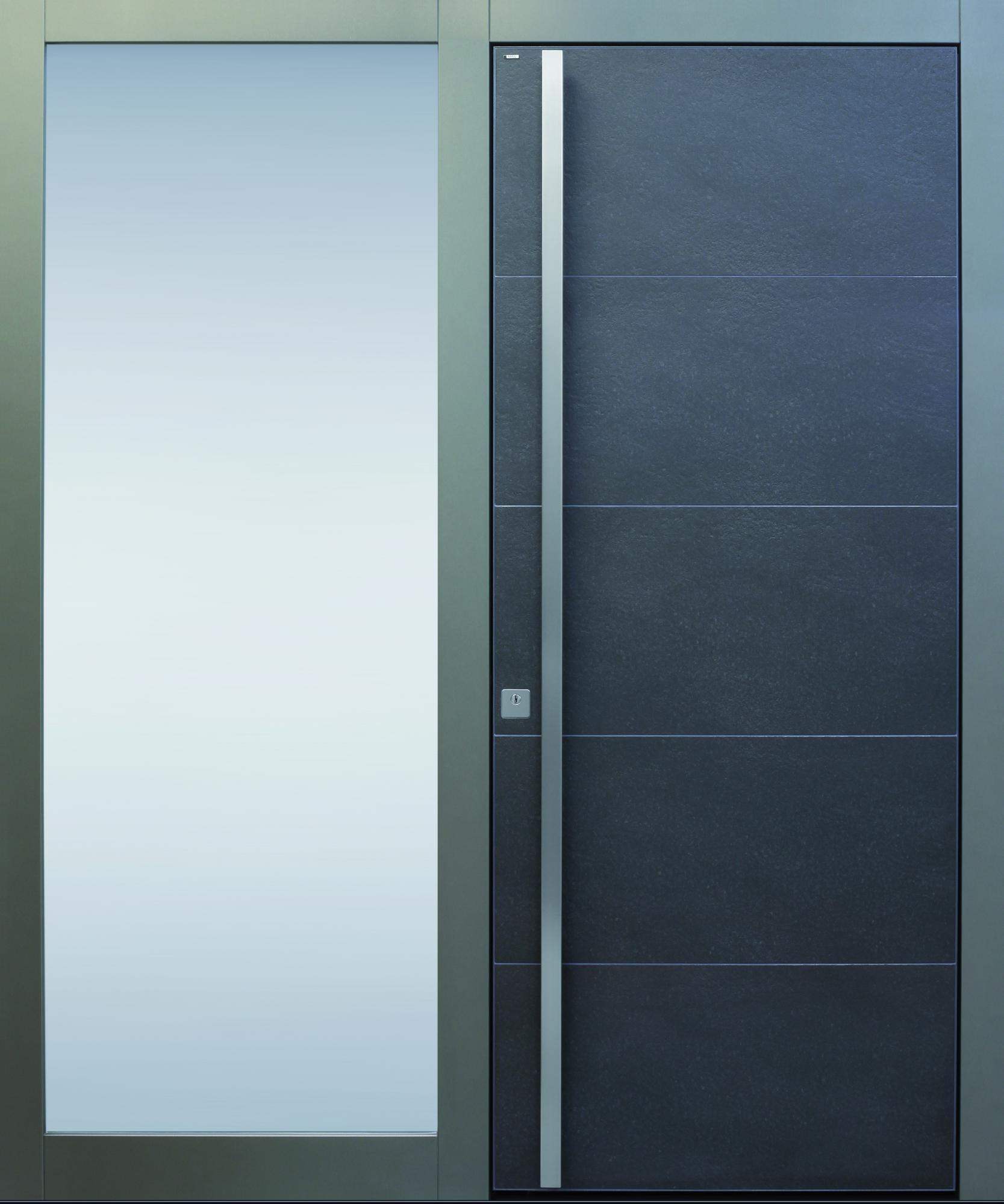 Haustüren anthrazit mit seitenteil  Haustüren ohne Lichtausschnitt | TOPIC Haustüren u. Wohnungstüren ...