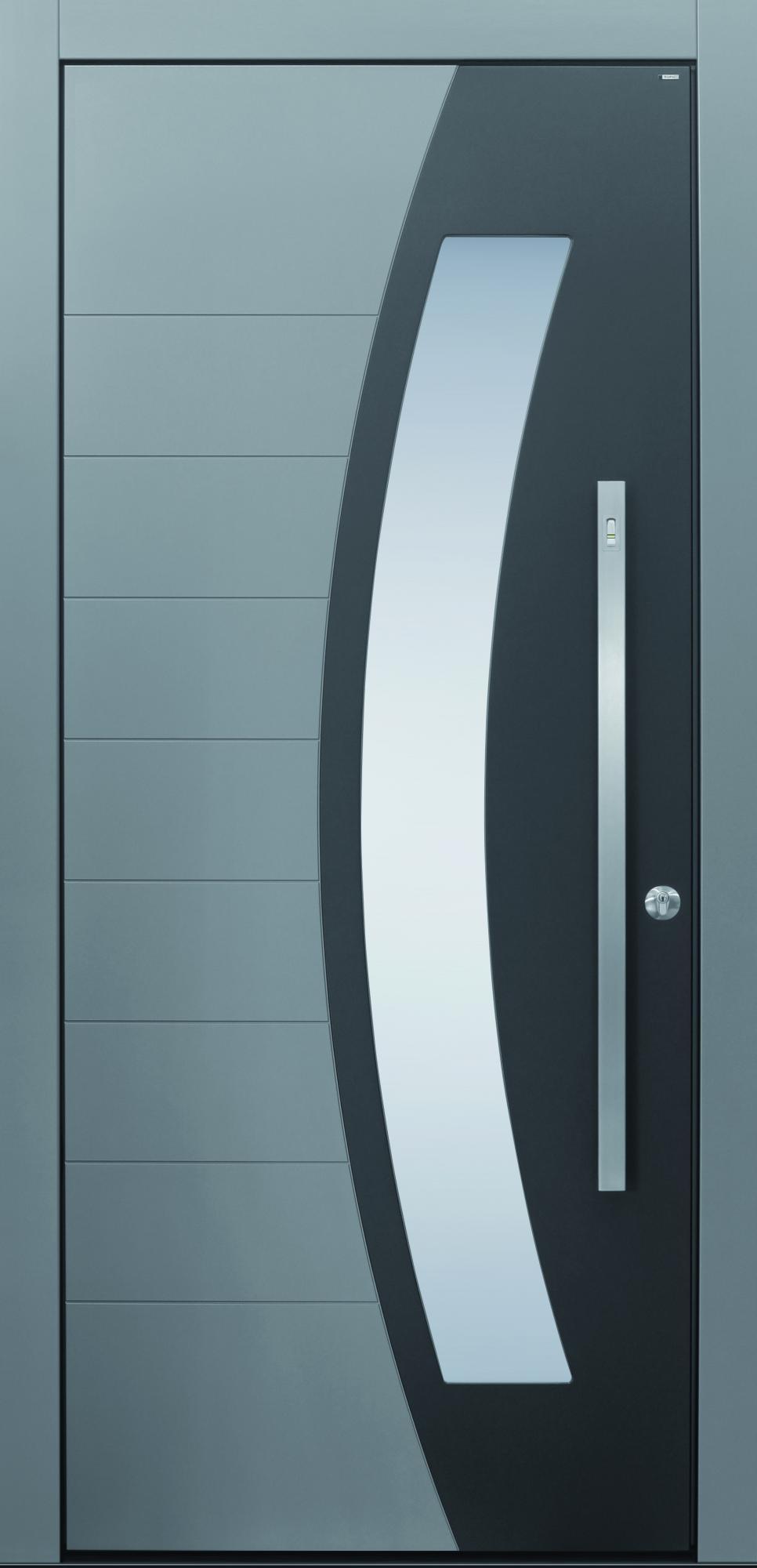 Haustür modern grau  Haustüren mit rundem Lichtausschnitt | TOPIC Haustüren u ...