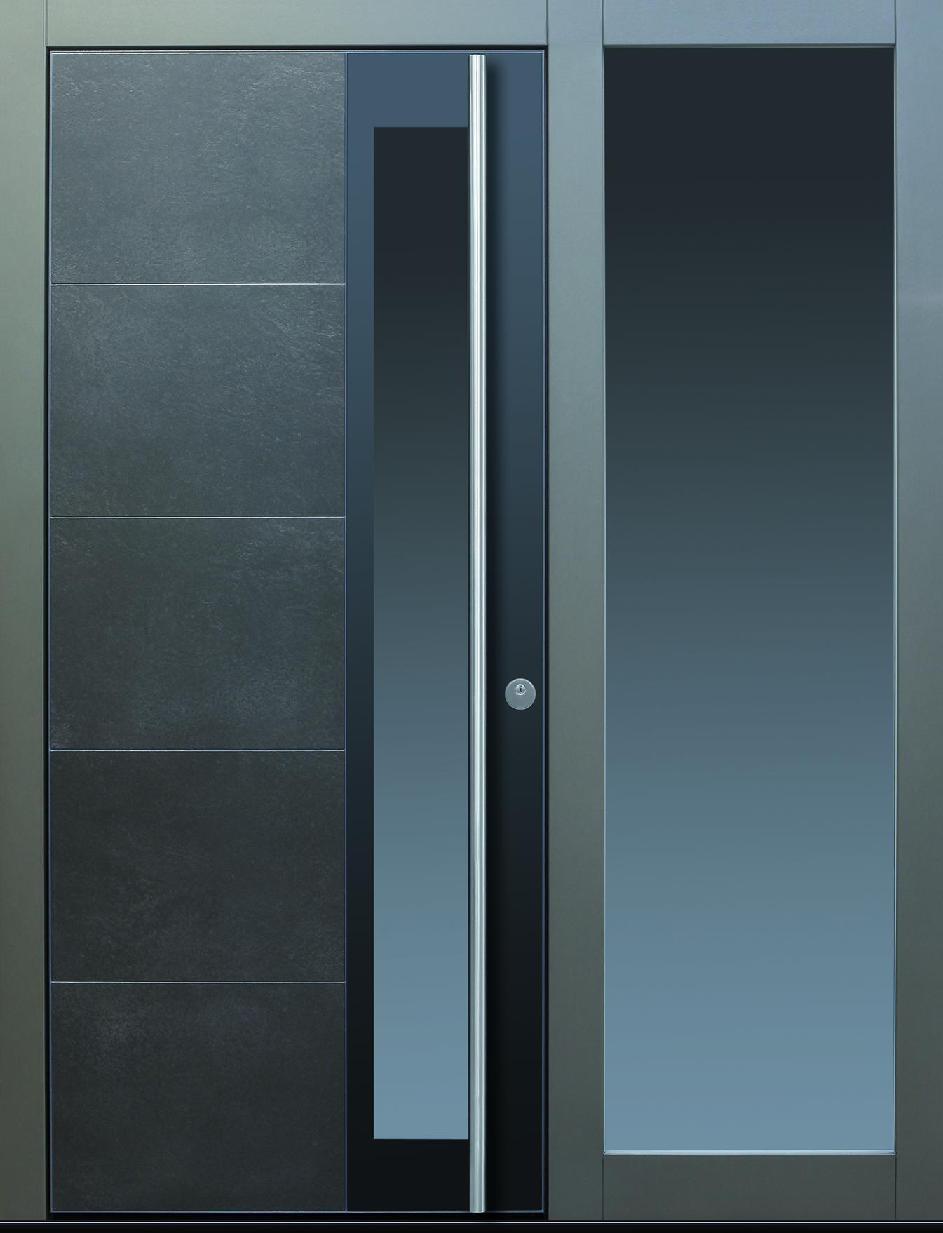 Haustüren modern grau mit seitenteil  TOPIC - Haustüren von Meisterhand TOPIC Haustüren u. Wohnungstüren ...
