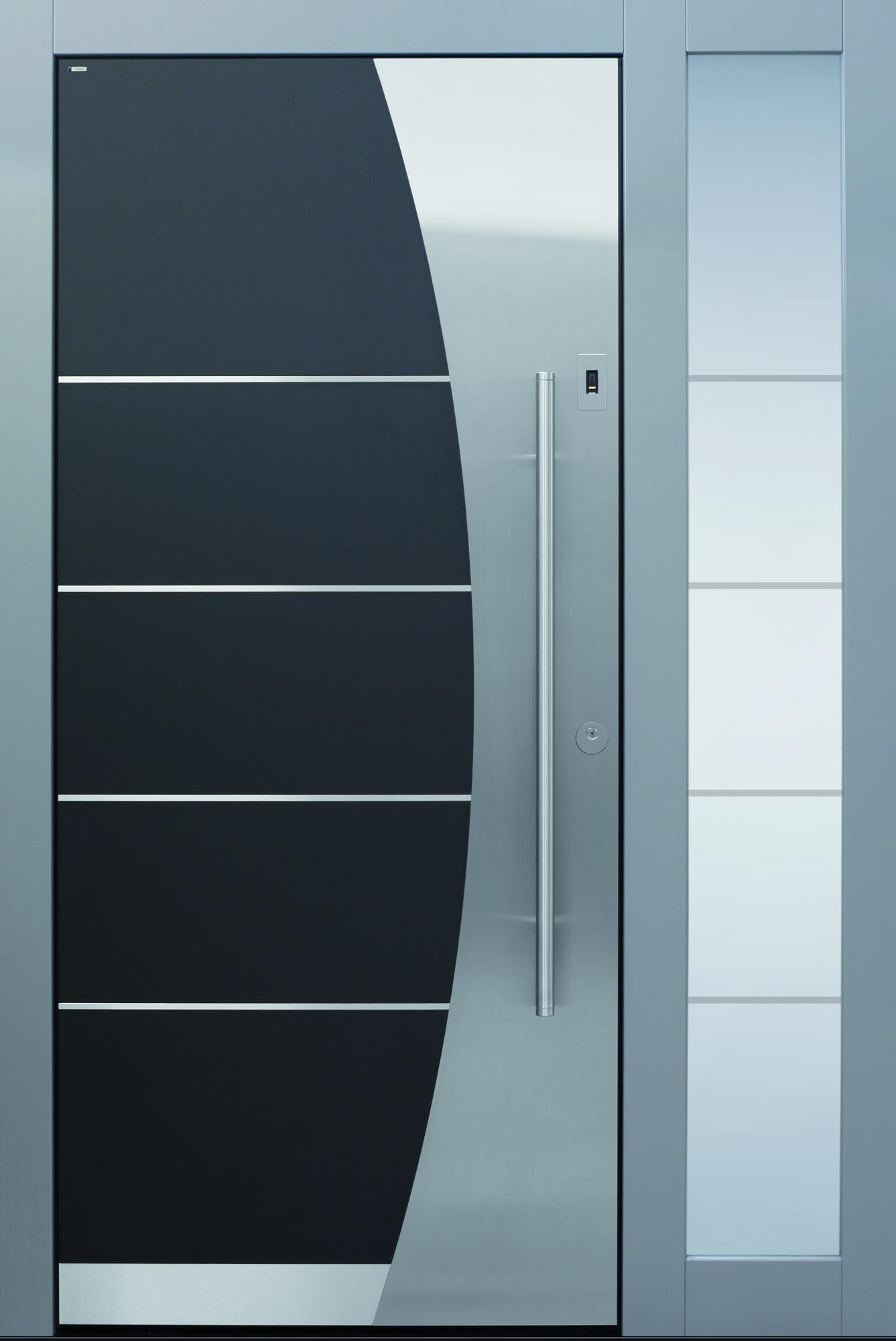 Haustür modern anthrazit  Haustüren ohne Lichtausschnitt | TOPIC Haustüren u. Wohnungstüren ...