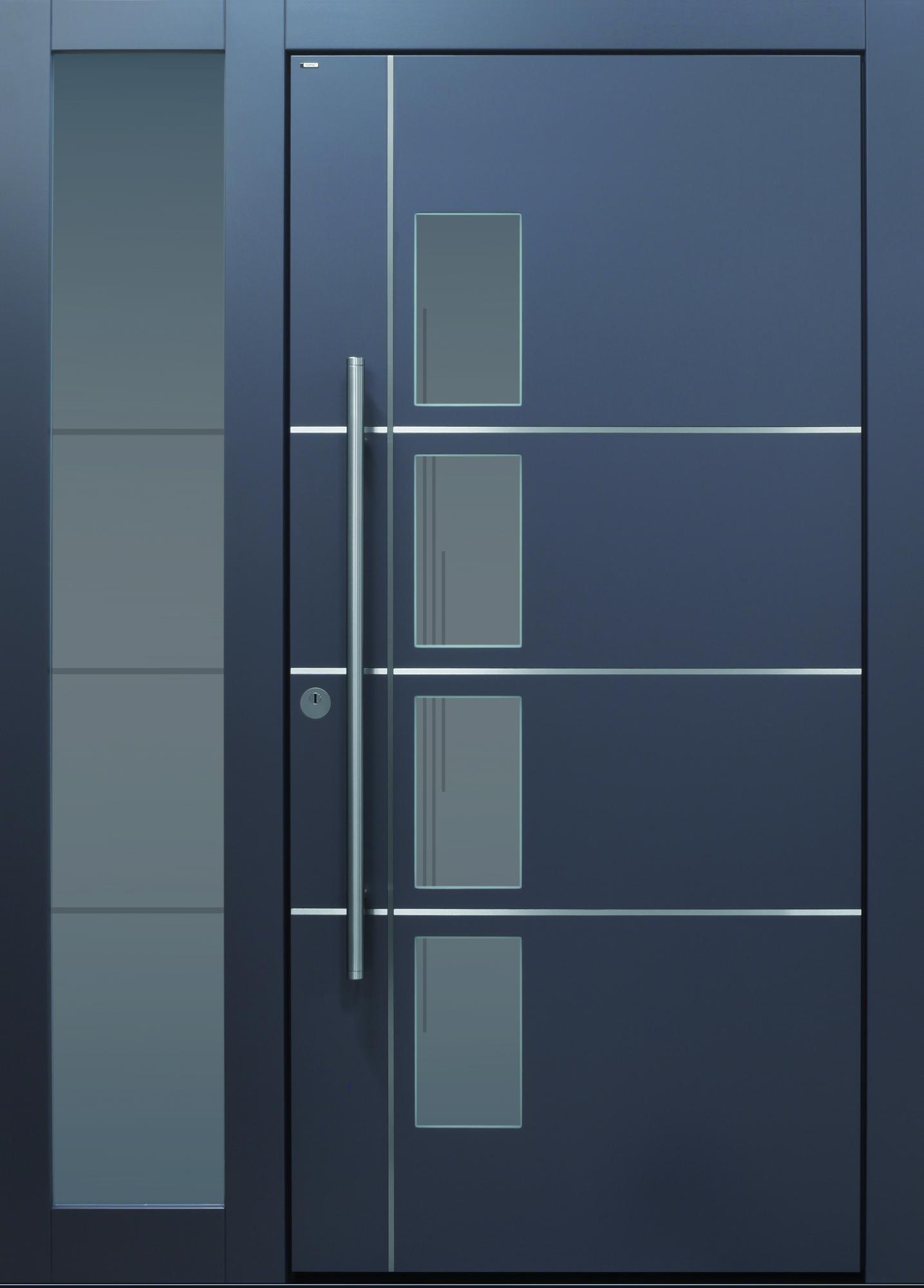 Haustür Modern, Anthrazit, TOPICcore, Sicherheitstür, Passivhaustauglich,  Besser Als Alu, Seitenteil