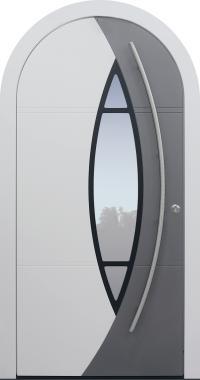 Haustür weiß mit Rundbogen Modell A230-T1