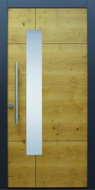Haustür modern, anthrazit, Holz, Sicherheitstür, besser als alu, Glas