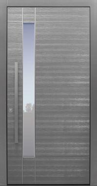 Haustür modern, Holz, Eiche,Sicherheitstür, passivhaustauglich, besser als alu, Glas