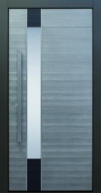 Haustür modern, anthrazit, Holz, Sicherheitstür, passivhaustauglich, besser als alu, Glas