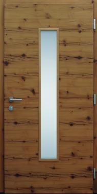 Haustür modern, Holz, Fichte Altholz, Innenansicht, Sicherheitstür, passivhaustauglich, besser als Alu