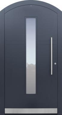 Haustür anthrazit mit Segmentbogen Modell A483-T1