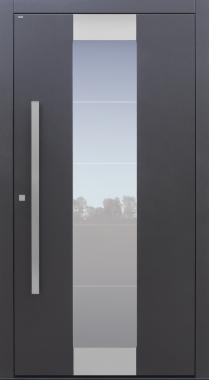 Haustür anthrazit mit Glasmotiv MS4 mit Option 2. Farbe und Designpaket Modell B11-T1