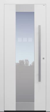 Haustür weiß mit Glasmotiv MS4 mit Option Designpaket Modell B11-T1