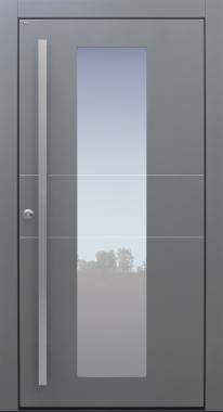 Haustür modern, grau, TOPICcore, Sicherheitstür, passivhaustauglich, besser als alu, Glas