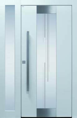 Haustür modern, TOPICcore, weiß, Sicherheitstür, passivhaustauglich, besser als alu, Seitenteil, Glas