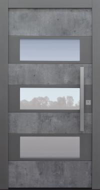 Haustür Exterior Skyline mit Option 2. Farbe Modell B17-T