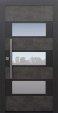 Haustür Prado Agate Grey mit Option 2. Farbe Modell B17-T