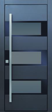 Haustür modern, TOPICcore, anthrazit, grau, Sicherheitstür, passivhaustauglich, besser als alu, Glas