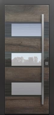 Haustür modern, Altholz, Keramik, Sicherheitstür, passivhaustauglich, TOPICcore, besser als alu, Glas