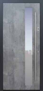 Haustür Exterior Skyline mit Fingerprint mit Option Designpaket Modell B21-T1