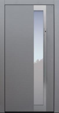 Haustür modern, TOPICcore, hellgrau, Sicherheitstür, passivhaustauglich, besser als Alu, Glas, Fingerprint