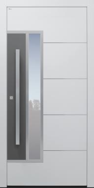 Haustür weiß mit Option 2. Farbe Modell B33-T2