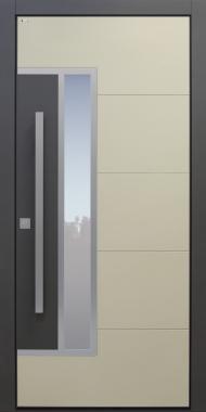 Haustür modern, beige, Keramik, anthrazit, TOPICcore, Sicherheitstür, passivhaustauglich, besser als Alu, Glas