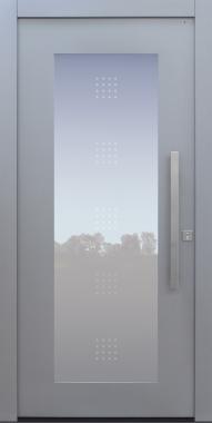 Haustür modern, grau, TOPICcore, Sicherheitstür, besser als Alu, Glas, Glsamotiv