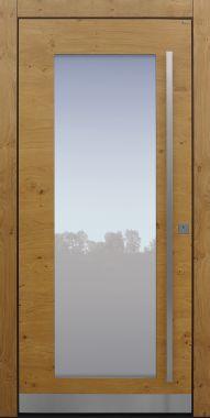 Haustür modern, Holz, Eiche, Eiche astig, Sicherheitstür, passivhaustauglich, besser als Alu, Glas