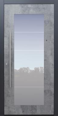 Haustür Exterior Skyline mit Glasmotiv MS4 mit Option Designpaket Modell B34-T1