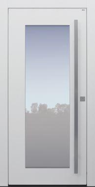 Haustür modern, TOPICcore, weiß, Sicherheitstür, passivhaustauglich, besser als Alu, Glas