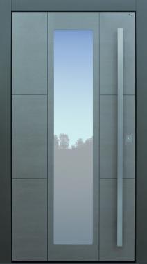 Haustür modern, Holz, Eiche, silverwood lasiert, Sicherheitstür, passivhaustauglich, besser als Alu, Glas