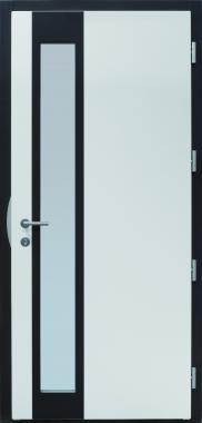 Haustür modern, weiß, Innenansicht, TOPICcore, Sicherheitstür, besser als Alu