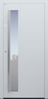 Haustür weiß mit Option Designpaket mit Keypad Modell B37-T1