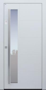 Haustür modern, TOPICcore, weiß, Sicherheitstür, passivhaustauglich, besser als Alu, Glas, Keypad