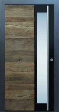Haustür anthrazit, Holz, Altholz, Eiche, über 300 Jahre, Sicherheitstür, passivhaustauglich, TOPICcore, besser als alu, Edelstahl, Glas