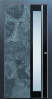 Haustür modern anthrazit, Echtstein, Stein, Himalayastein, Edelstahl, Sicherheitstür, passivhaustauglich, TOPICcore, besser als alu, Glas