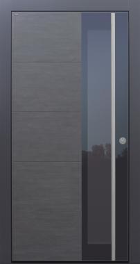 Haustür modern, anthrazit, Keramik, TOPICcore, Sicherheitstür, passivhaustauglich, besser als Alu, Glas