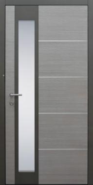 Haustür modern, Holz, Lärche, Sicherheitstür, passivhaustauglich, besser als Alu, Glas