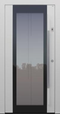Haustür modern, TOPICcore, weiß, Sicherheitstür, passivhaustauglich, besser als Alu, Glas, Fingerprint