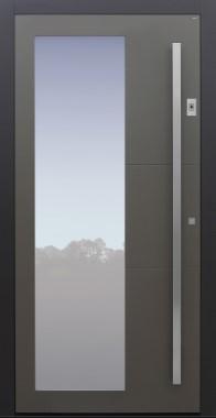 Haustür grau mit Fingerprint mit Option Designpaket Modell B55-T1