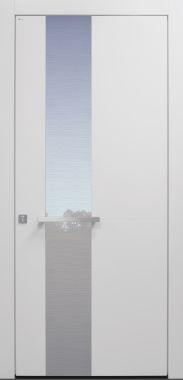 Haustür modern, weiß TOPICcore, Sicherheitstür, passivhaustauglich, besser als Alu, Glas