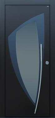 Haustür modern, grau, anthrazit, TOPICcore, Sicherheitstür, passivhaustauglich, besser als alu, Glas