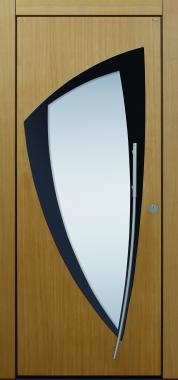 Haustür modern, grau, Eiche, Holz, Sicherheitstür, passivhaustauglich, besser als alu, Glas