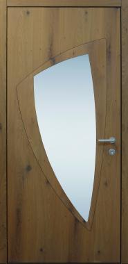 Haustür modern, Holz, Eiche alt, Natur, Sicherheitstür, passivhaustauglich, besser als Alu, Glas