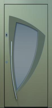 Haustür modern, beige, TOPICcore, Sicherheitstür, passivhaustauglich, besser als alu, Glas