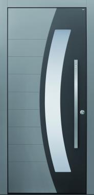 Haustür modern, anthrazit,grau, TOPICcore, Sicherheitstür, passivhaustauglich, besser als alu, Glas