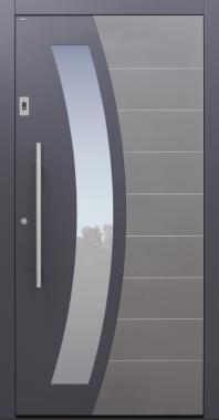 Haustür anthrazit mit Fingerprint Modell B62-T2